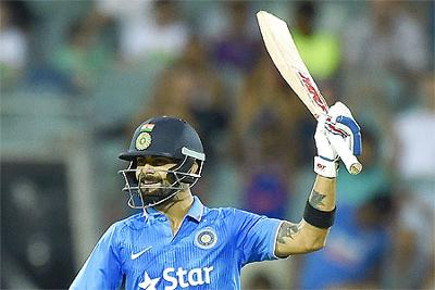 Kohli scores of 90*, 59* and 50 in the three-match series.