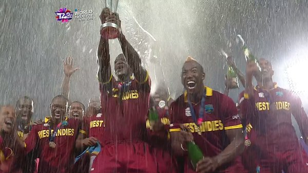 Darren Sammy become first captain win second World T20 title.