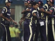 Kolkata Knight Riders celebrate after won against Deccan Chargers