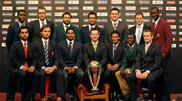 Captains of the 14 competing teams at the World Cup paraded through Dhaka's historic Bangabandhu Stadium on Thursday